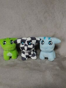 Mcdonalds Happy Meal Toy Neopets Poogle Stuffed Plush Lot of 3