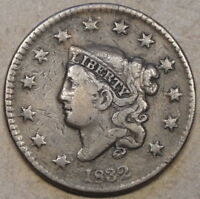 1832 Medium Letters Coronet Head Large Cent as Pictured with too much light