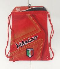 Mexico Cinch Bag Color Red W/ Gold Official Licensed Product  NWT