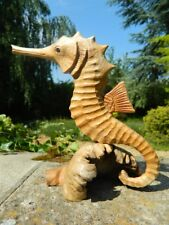 Wooden Seahorse Carving - Seahorse on Parasite Wood