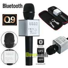 Q9 Wireless Karaoke Microphone Portable Bluetooth Ktv Mic Speaker Usb Player Blk