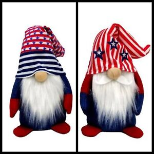 Set of 2 Cute PATRIOTIC Gnome Plush Decoration Gnome Faceless Doll Toy Elf