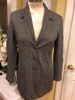 St John collection knit herringbone pattern jacket size 6(Jo100
