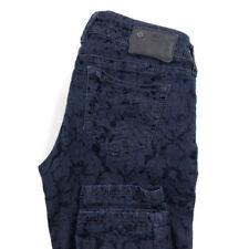 Silver Womens 27x31 Suki Blue Velvet Floral Stretch Skinny Pants
