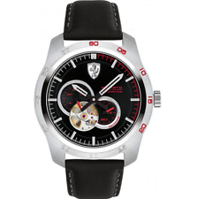 Ferrari Primato AUTOMATIC Black Stainless Men's 44mm w/Black Strap Watch 0830442