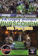 BURSCOUGH  V  SOUTHPORT 25/8/2003 unibond league prem PROGRAMME
