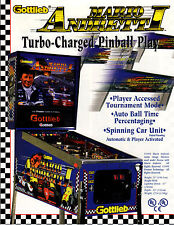 MARIO ANDRETTI Original PROMO Pinball Flyer GOTTLIEB 1995 FORMULA ONE INDY 500
