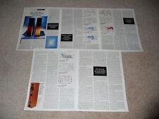 BIC Venturi V-604 Speaker Review, 5 pg, 1997, Full Test, Rare Info!