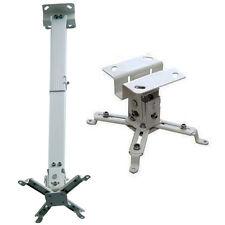 Universal Extendable Tilt Ceiling Projector Mount Bracket BenQ NEC Dell White