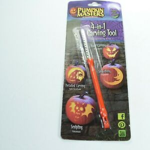 Halloween Pumpkin Masters 4 in 1 Carving Tool Knife Pumpkin Accessory Saw Edge