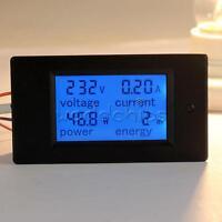 20A AC Digital LCD Panel Power Meter Monitor Power Energy Voltmeter Ammeter New