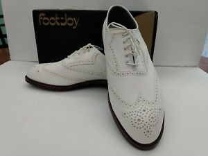 NEW Vintage Footjoy Classics Dry Mens Golf Shoes White 51342 11.5 D SHIPS FREE