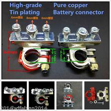 2x Leisure Battery Terminals Connectors Clamps Car Van Caravan Motorhome Red BLK
