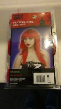 Playful Girl Red Wig Totally Ghoul.  Brand New in Package.