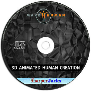 NEW & Fast Ship! MakeHuman Create 3D Realistic Animated Human Characters - Disc