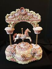 Ornate Carousel Horse In Archway Musical Animated