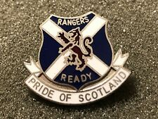 "GLASGOW RANGERS Football Badge ENAMEL ""PRIDE OF SCOTLAND"" Pin"