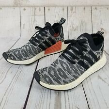 Adidas NMD R2 PK Running Primeknit Shoes Black White Boost BY9409 Mens Size 10.5