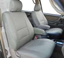 TOYOTA TUNDRA 2000-03 GREY S.LEATHER CUSTOM 2 FRONT SEAT & 2 ARMREST COVERS