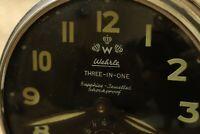 Vintage WeHrle Alarm Clock 3 in 1 Germany Clock, Phosphorescent luminous numbers