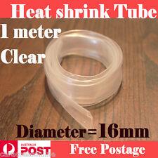 Heat Shrink tube Heatshrink tubing Sleeving Clear Diameter=16mm 1meter  AU STOCK