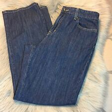 LL Bean Dark Wash Blue Jeans Classic Fit Pants Size 8 Regular Nice!
