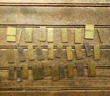 Rare Vintage Matrices Brass Complete Alphabet Old English Engraving Pantograph