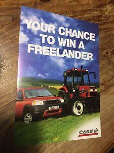 Case IH 4240 tractor brochure competition Land Rover Freelander 4200 Doncaster