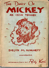 Irish Terrier, Diary of Mickey, scarce, 1939 SIGNED dog