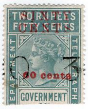 (I.B) Ceylon Telegraphs : 60c on 2R 50c OP