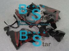 Black ABS Aftermarket Fairing Bodywork Kit Kawasaki ZX-7R 1996-2003 D7