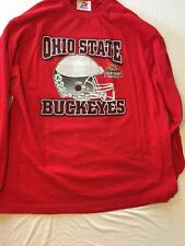 OHIO STATE 2007 Tostitos BOWL LONG SLEEVE RED XL T-SHIRT SCHEDULE ON BACK