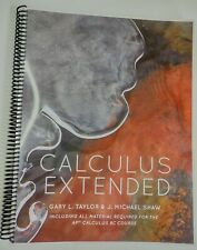 Calculus Extended Taylor & Shaw Textbook Book
