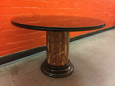 Ceramic Marble Trompe L'oeil Glass Top Coffee Table Art Deco Rega Style - VR