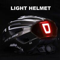 casque de vélo lumière LED Rechargeable cyclisme trottinette hoverboard sécurité
