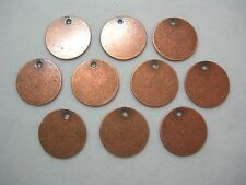 Antiqued Copper Plated Brass Disc Drops Earring Findings - 10- 15mm