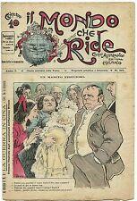 SATIRA-UMORISMO_Il Mondo che Ride - Anno I - N.35_Ed. Aliprandi, 1900* vedi >>>