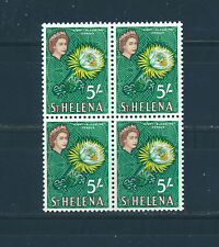ST HELENA 1961 DEFINITIVES SG187 5s. BLOCK OF 4 MNH