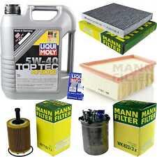 Inspektionskit Filter Liqui Moly Oil 5L 5W-40 for Skoda Fabia I Estate 6Y5