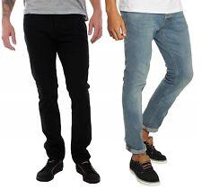 4e37222c2ab Jack & Jones Mens Slim Fit Black-Blue Designer Slim Leg Pants Jeans All Size