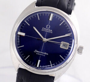 VINTAGE OMEGA SEAMASTER COSMIC AUTO CAL565 DATE BLUE DIAL MEN'S WATCH
