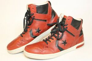 Converse x John Varvatos Mens 9.5 43 Weapon Red Leather Sneakers Shoes 132828C