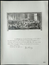 1926 - Lithographie citation de Jules Cambon (Guerre 14 18 )