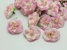 Wholesale 100pcs PINK ROSES Artificial Silk Flowers Head Wedding Floral Supplies