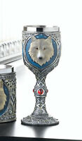 medieval Dire WOLF direwolf thrones bar Goblet Drink wine Glass game CUP statue