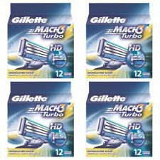 4 x Gillette Mach3 Turbo 12er Klingen Rasierklingen Gilette Ersatzklingen