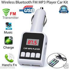 Wireless Auto KFZ FM Transmitter MP3 Spieler Freisprechanlage SD USB LCD Remote