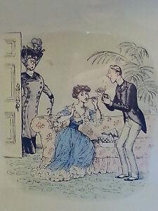Rothman vintage Art Deco antique wood frame print – Fanny's first cigarette