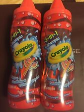CRAYOLA 3~IN~1 SHAMPOO,CONDITIONER & DETANGLER ALL IN ONE 9.75 FLOZ ~LOT OF 2