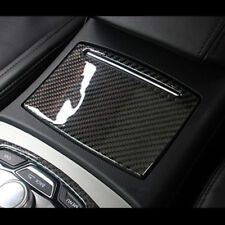 Carbon Fiber Decorative Trim For Audi A6 C7 2012-17  Water Cup Holder Cover